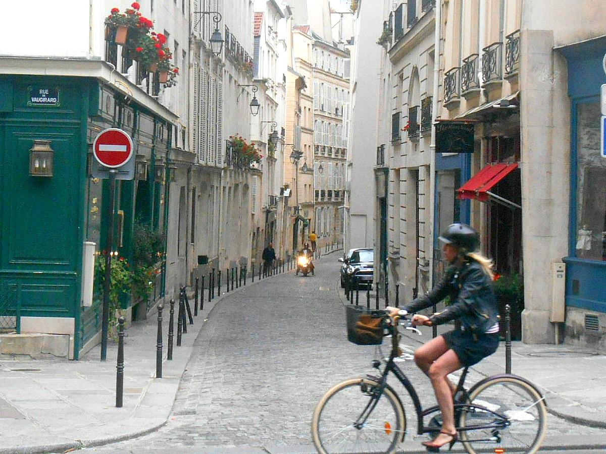 rowerem po Paryżu