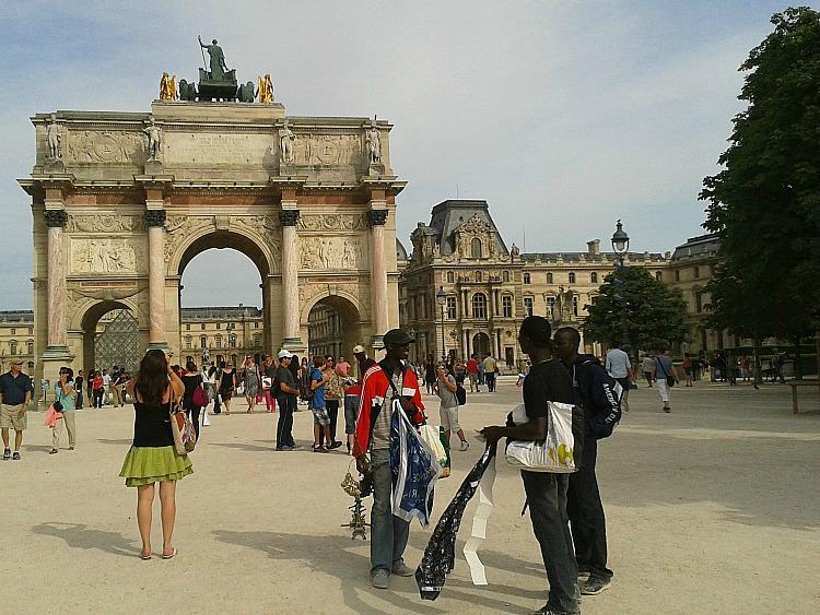 Łuk Triumfalny na Placu Karuzeli. Tuileries
