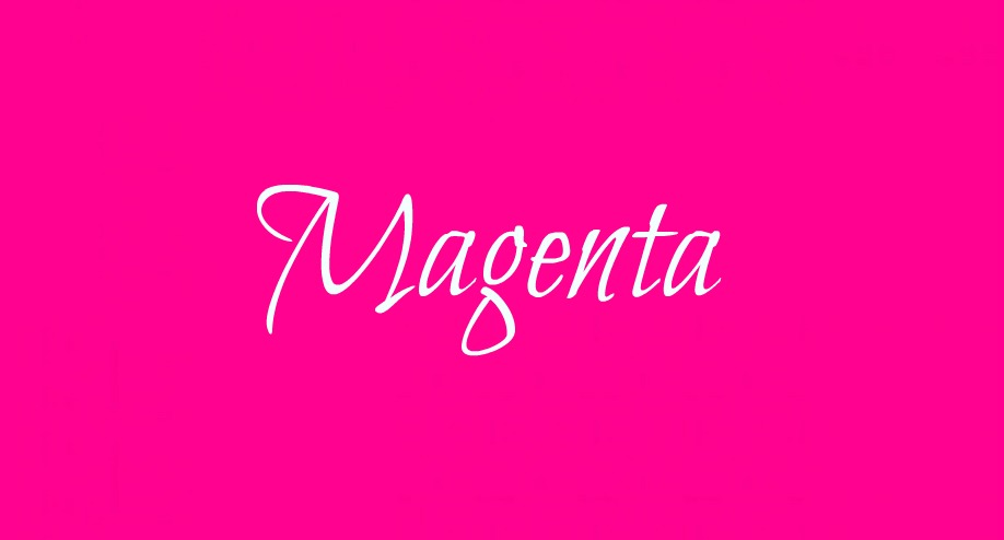 Dlaczego purpurowo – czerowny kolor nosi nazwę MAGENTA?