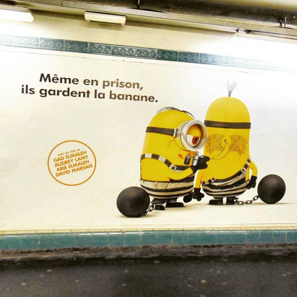Podejrzane w paryskim metrze Minionki nawet w parysk pogod przezhellip