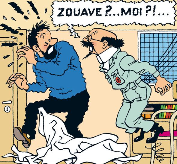 Dlaczego Francuzi mówią:  FAIRE LE ZOUAVE zrobić z siebie idiotę - w jezyku bardzo potocznym.
