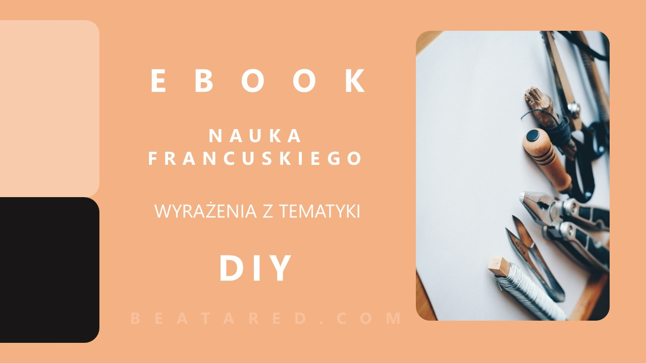 NAUKA FRANCUSKIEGO EBOOK Z WYRAZENIAMI z tematyki DIY