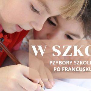 À l'école  – W Szkole. Przybory szkolne po francusku.